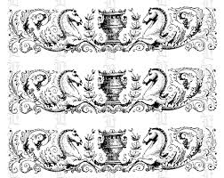 antique ornament historic decorative border detail vintage