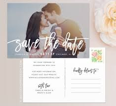 postcard save the dates handwritten photo save the date mallory design