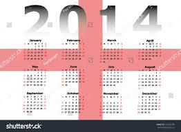 vector calendar design 2014 flag england stock vector 129253790