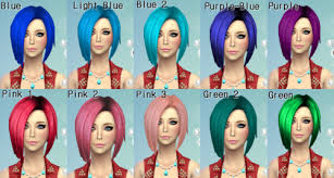 sims 4 blue hair cc by darkiie sims4 at tumblr page 2 the sims forums