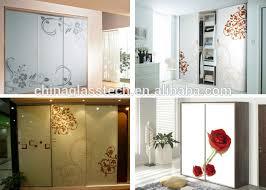 Decorative Sliding Closet Doors Decorative Aluminium Alloy Stained Glass Sliding Closet Door
