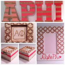 sorority picture frames scalloped edges and stripes big gifts gettin