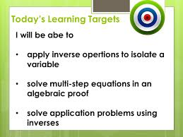 1 1 solving equations today u0027s learning targets i will be abe to