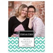 wedding announcement modern chevron missus wedding announcement cards flat cards