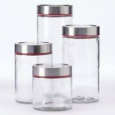 glass kitchen canister set global amici glass kitchen canisters jars ebay