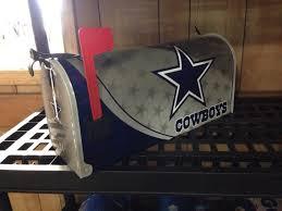 themed mailbox dallas cowboys themed mailbox cowboys dallas and etsy