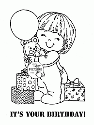 it is your birthday coloring page for kids holiday coloring pages