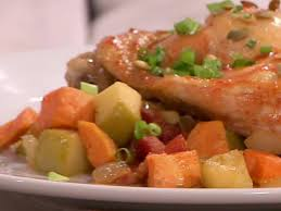 Thanksgiving Yam Recipes Garnet Yam Bacon And Apple Hash Recipe Anne Burrell Food Network