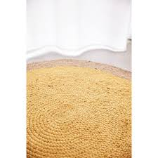 Yellow Round Area Rugs Izamal Yellow Hand Braided Round Jute Rug
