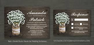 jar wedding invitations home vintage rustic wedding invitations