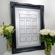 crystal rain table plan by lillypea event stationery