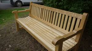 bench engraving memorial benches the wooden workshop bampton