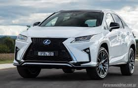 white lexus red interior 2016 lexus rx 450h f sport review video performancedrive