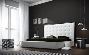 White Leather Bedroom Furniture Modloft Ludlow Platform Bedroom Set In Wenge And White Eco