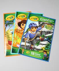 crayola dora spongebob u0026 diego giant coloring book set zulily