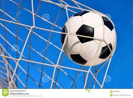 football goal with blue sky stock photo image 39284836