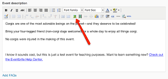 how to add images to an event description eventbrite help center
