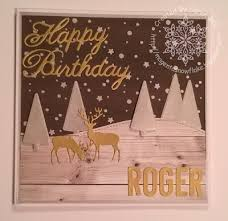 magenta snowflake designs io small deer and lawn fawn birthday card