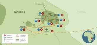 Mt Kilimanjaro Map Kilimanjaro Climb Machame Route 7 Days On The Mountain