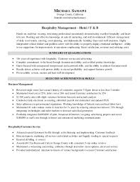 Sample Resume Of Hospitality Management by Michael Samawi Resume Hospitality Management November 2015
