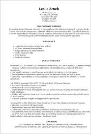Director Resume Examples by Professional General Manager Templates To Showcase Your Talent
