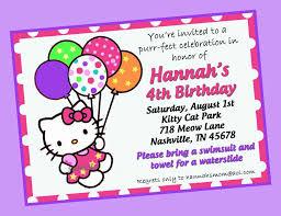 hello kitty birthday invitations birthday party invitations