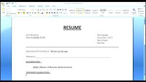 format on how to make a resume how to make a cv in word pertamini co