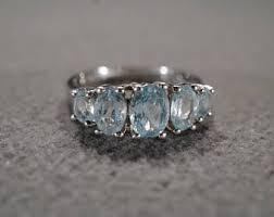 vintage aquamarine engagement ring etsy