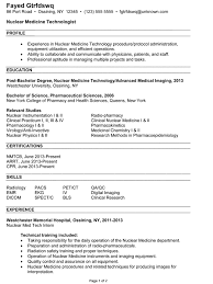 Sample Resume For Radiologic Technologist by Combination Resume Example Nuclear Medicine Technologist Sample