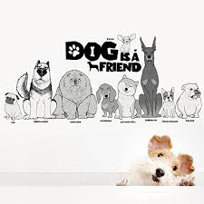 cute dogs puppy pet wall stickers wall decal vinyl removable art