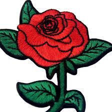 K Hen Sonderangebote Rote Rose Gestickte Badge Eisen Auf N Hen Auf Patch Amazon De
