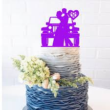 lilac jeep jeep couple wedding cake topper jeep cake topper customize jeep