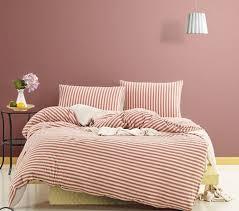 ruby stripe linen duvet cover myfavoritebeachhouse com