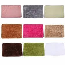 Shaggy Bathroom Rugs 9 Colors 40x60cm Bathroom Carpet Door Mat Floor Mat Anti Skid
