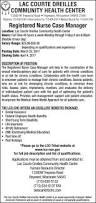 Medical Records Job Duties Registered Nurse Case Manager Lac Courte Oreilles Community