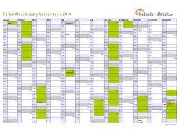 Kalender 2018 Feiertage Mv Ferien Meck Pomm 2016 Ferienkalender Zum Ausdrucken