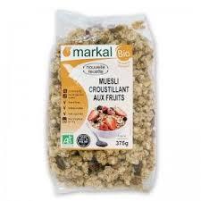 cuisine bio vitalité muesli bio croustillant aux fruits vitalité 375g markal