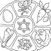 seder meal plate passover coloring pages surfnetkids