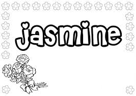jasmine coloring pages name coloring pages jasmine coloringstar