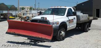 Dodge 3500 Dump Truck With Plow - 2007 dodge ram 3500 flatbed pickup truck item dh9070 sol