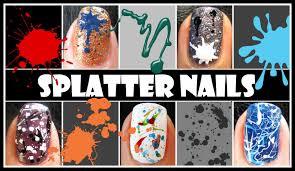 splatter nail tutorial easy beginner techniques to create nail