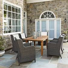 6 Piece Patio Dining Set - home styles biscayne bronze 7 piece patio dining set 5555 338