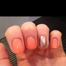 coral and gold nail color combo oh how i love thee pinterest