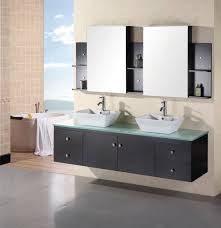 72 Bathroom Vanity Double Sink by 72 Inch Modern Double Vessel Sink Bathroom Vanity With Tempered
