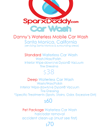 dannys waterless mobile car wash the santa monica based waterless dannys waterless mobile car wash the santa monica based waterless car wash that comes to where ever you are and washes your vehicle using organic based non