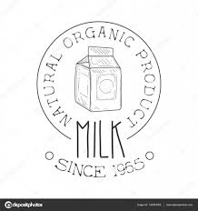 natural organic product fresh milk product promo sign in sketch