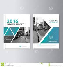 Annual Report Cover Page Template by Blue Green Vector Annual Report Magazine Leaflet Brochure Flyer