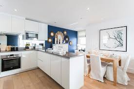 White Cabinets With Blue Walls Blue Wall Organizers Home Office Traditional With Organized Home