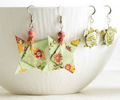 origami earrings try colorful affordable origami paper jewelry
