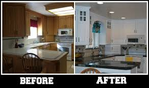 Replacing Kitchen Countertops Kitchen Kitchen Renovation Before And After With Repainting